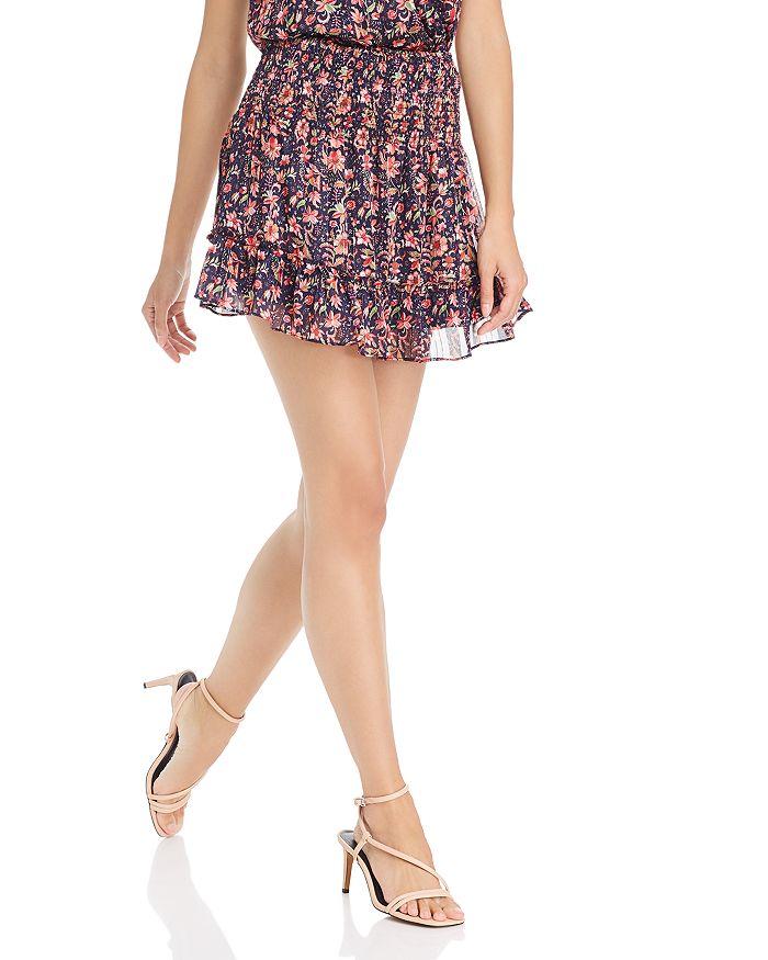 AQUA - Smocked Floral Paisley Skirt - 100% Exclusive