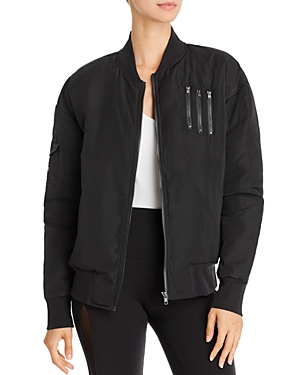 Alo Yoga Squad Down Bomber Jacket In Black