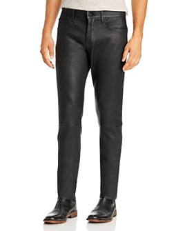 Joe's Jeans - Asher Slim Fit Lamb Leather Pants in Jet Black