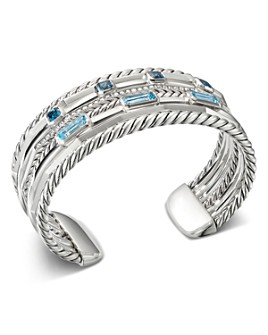 David Yurman - Sterling Silver Stax Wide Cuff