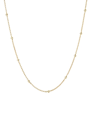 David Yurman 18K Yellow Gold Cable Collectibles Bead & Chain Necklace, 36