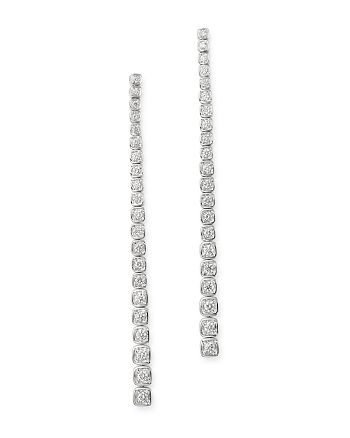 Bloomingdale's - Diamond Linear Drop Earrings in 14K White Gold, 0.75 ct. t.w. - 100% Exclusive