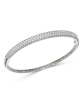 Bloomingdale's - Pavé Diamond Bangle in 14K White Gold, 3.50 ct. t.w. - 100% Exclusive