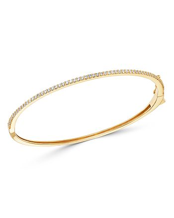 Bloomingdale's - Micro-Pave Diamond Stacking Bangle in 14K Yellow Gold, 0.60 ct. t.w. - 100% Exclusive