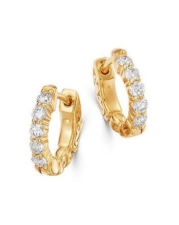 Bloomingdale's - Diamond Huggie Hoop Earrings in 14K Yellow Gold, 0.50 ct. t.w. - 100% Exclusive