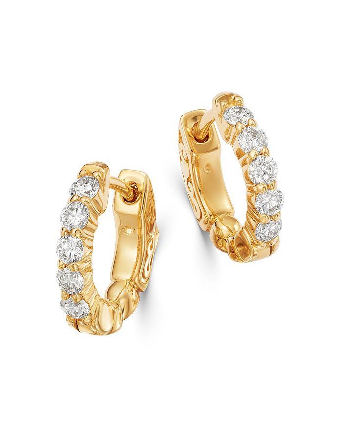 Bloomingdale's - Diamond Huggie Hoop Earrings in 14K Gold - 100% Exclusive