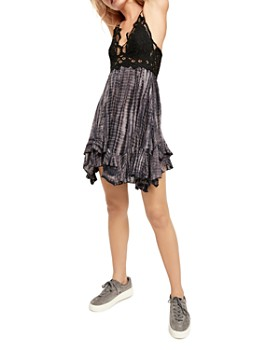 Free People - Adella Lace-Trim Tie-Dye Dress