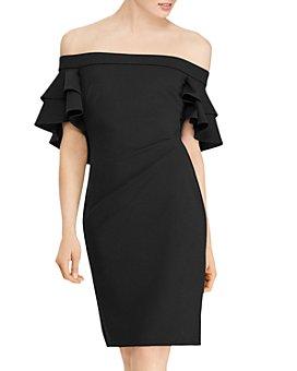 Ralph Lauren - Ruffled Off-the-Shoulder Crepe Dress