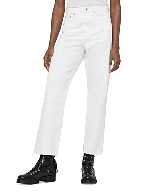 Allsaints Mari High-Rise Ankle Boyfriend Jeans in White
