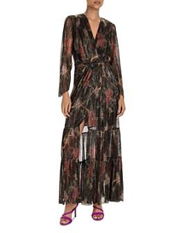 ba&sh - Hendrix Metallic Plissé Maxi Dress