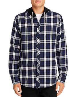 Sovereign Code - Plaid Hooded Regular Fit Shirt Jacket