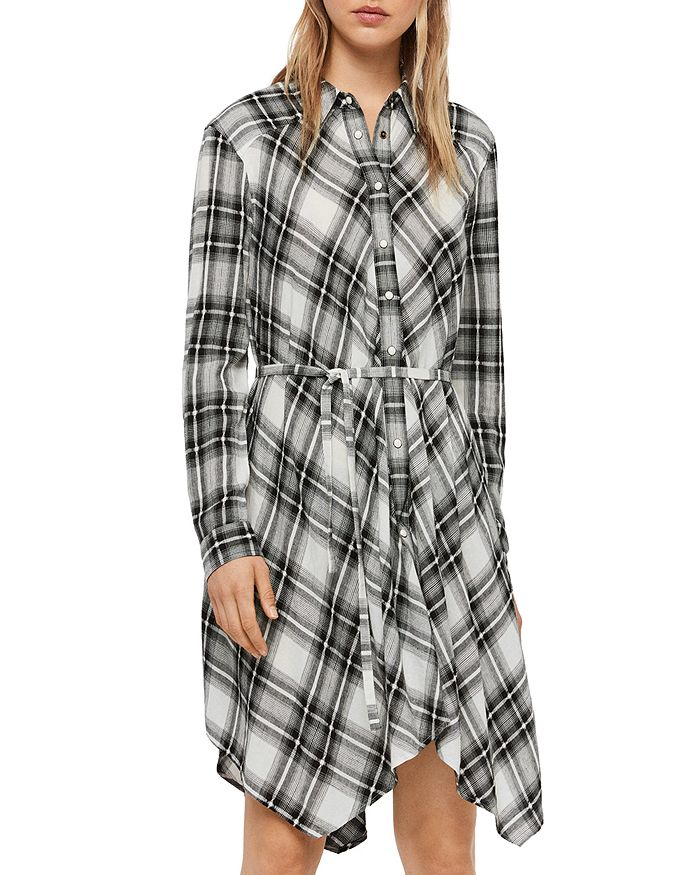 ALLSAINTS - Tala Plaid Shirt Dress