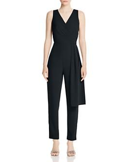 Donna Karan - Sleeveless Draped Jumpsuit