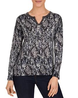 Gerard Darel - Sloan Snakeskin-Print Merino-Wool Sweater