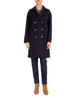 Gerard Darel - Pasha Double-Breasted Wool Pea Coat