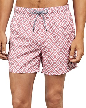 Ted Baker - Cedric Hexagon Pattern Drawstring Swim Shorts