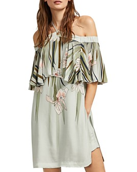 Ted Baker - Piipper Willow Cold-Shoulder Overlay Romper