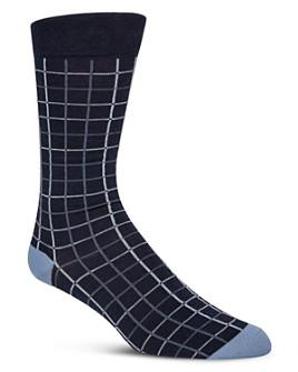 Cole Haan - Windowpane Check Crew Socks
