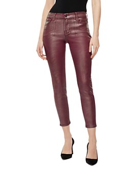 J Brand - Mid-Rise Coated Jeans in Bittersweet Shimmer