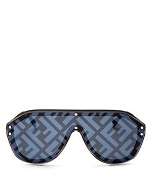 Fendi Sunglasses UNISEX LOGO-PRINT SHIELD SUNGLASSES, 99MM