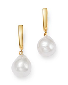 Bloomingdale's - Baroque Pearl Drop Earrings in 14K Yellow Gold - 100% Exclusive