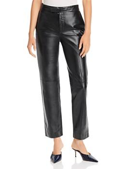 Helmut Lang - Leather Suit Pants