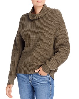 FRENCH CONNECTION - Oversized Cotton Turtleneck Sweater