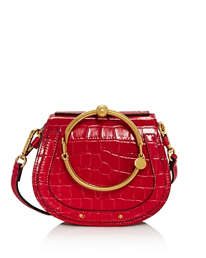Chloe Nile Small Croc-Embossed Satchel-Handbags