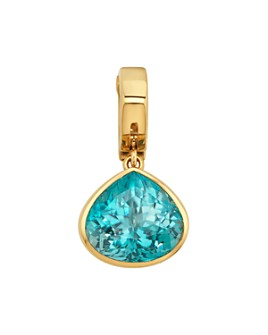 Marina B - 18K Yellow Gold Trisolina Pendant with Blue Zircon