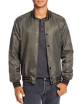 Mills Supply - Slim Fit Varsity Bomber Jacket