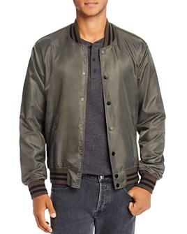 Mills Supply - Slim Fit Varsity Bomber Jacket