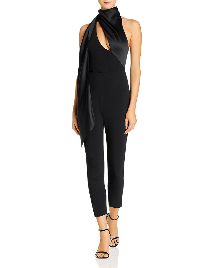 Cushnie - Cropped Fitted Wraparound Jumpsuit