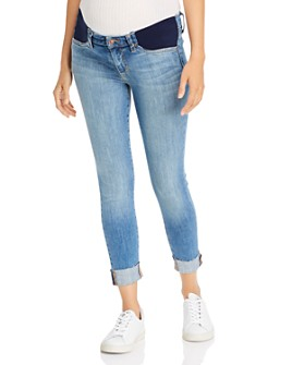 "Joe's Jeans - The Icon Crop 2"" Cuff Maternity Jeans in Shondra"