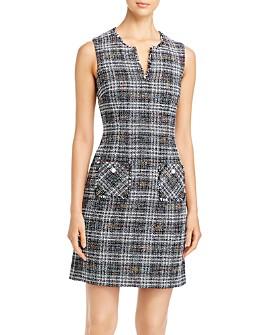 KARL LAGERFELD Paris - Frayed Tweed Pocket Dress