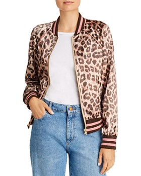 MOTHER - The Letterman Leopard Print Varsity Jacket