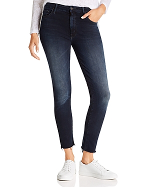 Mother The Looker High-Rise Ankle Fray Skinny Jeans in Last Call-Women