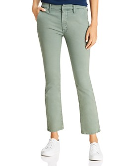 MOTHER - The Insider High-Rise Ankle Jeans in Killing Time