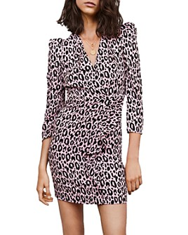 Maje - Ripanta Leopard-Print Mini Dress