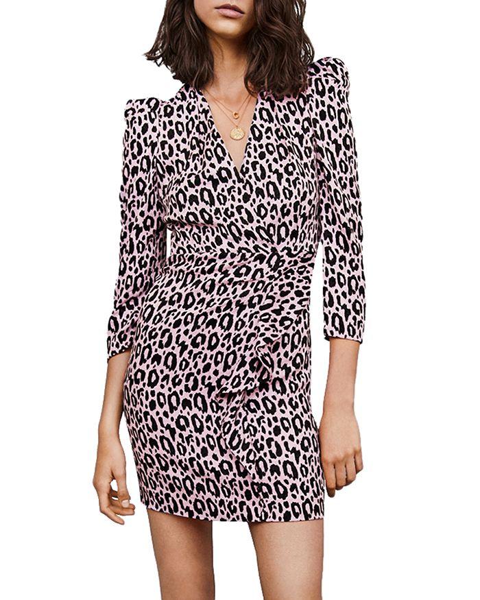 Maje - Ripanta Leopard-Print Mini Dress