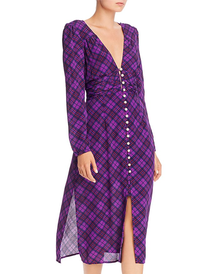 Rahi - Trista Plaid Button-Front Midi Dress