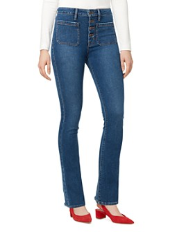 Sanctuary - Patch-Pocket Bootcut Jeans in Linden