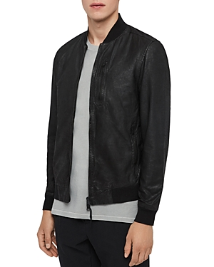 Allsaints X Rowe Leather Bomber Jacket - 100% Exclusive In Black