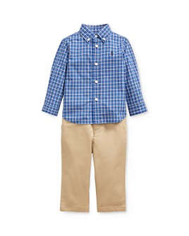 Ralph Lauren - Boys' Plaid Shirt & Chino Pants Set - Baby