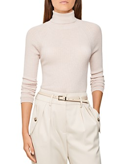 REISS - Opal Ribbed Knit Top