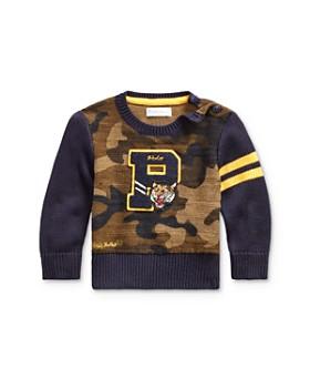 Ralph Lauren - Boys' Camo Letterman Sweater - Big Kid