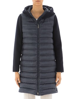 Peserico - Hooded & Quilted Contrast-Detail Down Coat