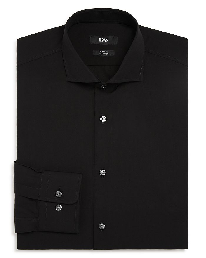BOSS - Solid Slim Fit Dress Shirt