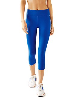 Tory Sport - Retro-Stripe Cropped Leggings