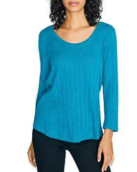 Sanctuary - Ribbed Scoop-Neck Top