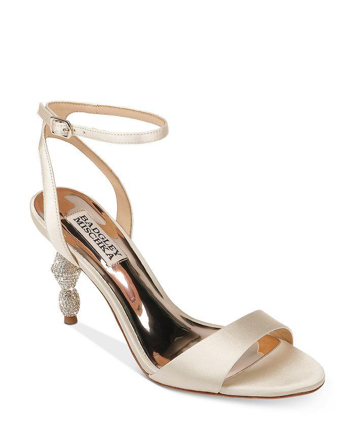 Badgley Mischka - Women's Evamarie Crystal-Embellished Kitten Heel Sandals